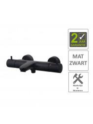 BWS Badkraan Cemal Thermostatisch Opbouw Mat Zwart