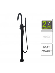BWS Badkraan Cemal Vrijstaand Mengkraan Compleet Mat Zwart