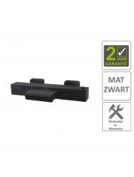 BWS Badmengkraan Rodos Waterval Thermostatisch Vierkant Mat Zwart