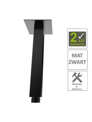 BWS Douche-Arm Luxe Vierkant Plafondbevestiging 30 cm Mat Zwart