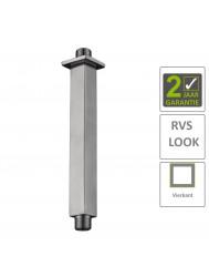 BWS Douchearm Hera Luxe Plafondbevestiging Vierkant 20 cm RVS
