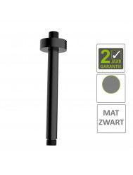 BWS Douchearm Luxe Rond Plafondbevestiging 20cm Mat Zwart