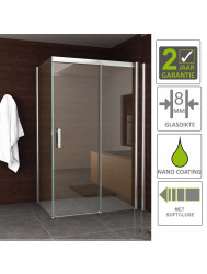 BWS Douchecabine Eris Softclose 120x90 cm 8 mm NANO Coating