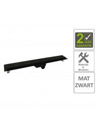 BWS Douchegoot Flens Met Uitneembaar Sifon 70x7x6.7cm RVS Mat Zwart