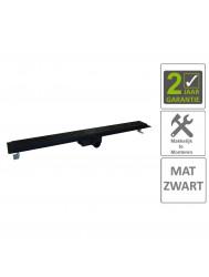 BWS Douchegoot Flens Met Uitneembaar Sifon 90x7x6.7cm RVS Mat Zwart