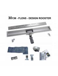 BWS Douchegoot RVS Met Flens 30 cm Uitneembaar Sifon Standaard Rooster
