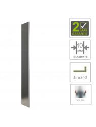 BWS Zijwand Geheel Mat Glas met Hoekprofiel 35x200 cm 10mm NANO Coating