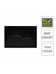 BWS Drukplaat Dismal TBV Geberit UP320 Mat Zwart