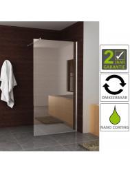 BWS Eco Inloopdouche met Muurprofiel 120x200 cm NANO Glas Chroom