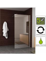 BWS Eco Inloopdouche met Muurprofiel 100x200 cm NANO Glas Chroom