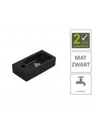 BWS Fontein Rino Mini Links 36x18x9 cm Mat Zwart