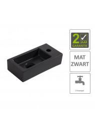 BWS Fontein Rino Mini Rechts 36x18x9 cm Mat Zwart
