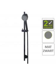 BWS Glijstangset Codos Luxe Compleet Met Handdouche En Doucheslang Mat Zwart