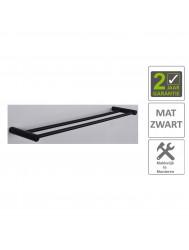 BWS Handdoekrek Mia Dubbel 60cm Mat Zwart