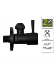 BWS Hoekstopkraan Mika Minimaal 3/8x10 Inclusief Rozet Mat Zwart