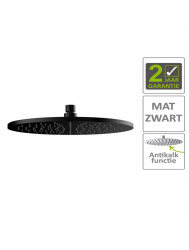 BWS Hoofddouche Luxe Rond 30x30 cm Mat Zwart