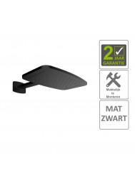 BWS Hoofddouche Met Waterval En Douchearm 40.4x25.4 cm Mat Zwart