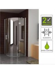 BWS Kwartronde Douchecabine 90x90cm 1 deur Rechts 8mm NANO coating