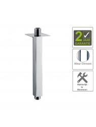 BWS Plafonduitloop Vierkant Luxe 20cm Chroom