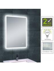 BWS Quatro LED dimbare condensvrije spiegel 70x50 cm