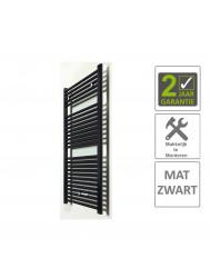 BWS Sierradiator Elvira 60x118 cm Middenonder Aansluiting Mat Zwart