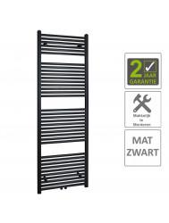 BWS Sierradiator Elvira 60x181 cm Middenonder Aansluiting Mat Zwart