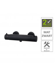 BWS Thermostaatkraan Douche Cool Touch Mat Zwart