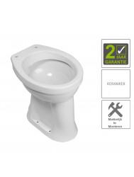 BWS Toiletpot Staand Verhoogd 6 AO Wit