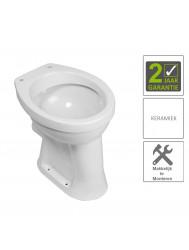 BWS Toiletpot Staand Verhoogd 6 PK Wit