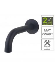 BWS Uitloop Inbouw Rond 20 cm Mat Zwart