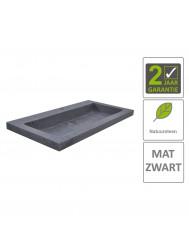 BWS Wastafel Hardsteen 80x46x5 cm 1 Kraangat Mat Zwart