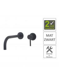 BWS Wastafelkraan Fit Inbouwmodel 21cm Eenhendel Mat Zwart