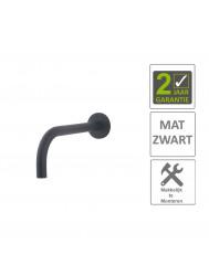 BWS Wastafelkraan Fit Rond 18mm Uitloop 20cm Mat Zwart