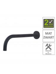 BWS Wastafelkraan Fit Rond 18mm Uitloop 25cm Mat Zwart