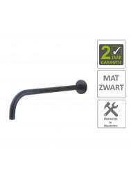 BWS Wastafelkraan Fit Rond 18mm Uitloop 30cm Mat Zwart