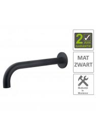 BWS Wastafelkraan Uitloop Rond 26 cm Mat Zwart
