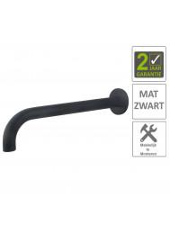 BWS Wastafelkraan Uitloop Rond 31.3 cm Mat Zwart