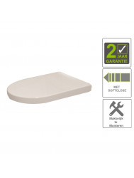 BWS Zitting Vesta Soft-close Tbv Wandcloset 52cm Wit