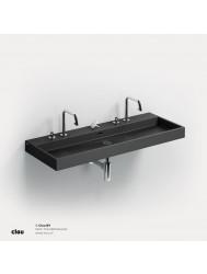 Wastafel Clou Wash Me 110x42x8 cm Keramiek Mat Zwart