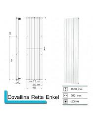 Handdoekradiator Boss & Wessing Covallina Retta enkel 1800x602 mm