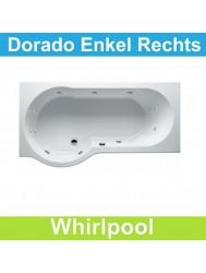 Ligbad Riho Dorado Rechts 170 x 75/90 cm Whirlpool Enkel systeem