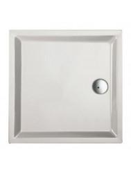 Douchebak acryl+ wit 90 x 90 cmvierkant 4cm hoog (Douchebak)