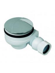 Douchebakafvoer met plug 90mm, 40mm klemaansluiting chroom (Default)