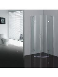 Douchecabine Sanitop Luxe kwartrond 2 deuren 100x100cm 6mm