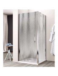 Douchecabine Lacus Giglio Fox Eéndelig 75 cm Chinchilla Glas Aluminium Profiel (1 zijwand)
