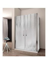 Douchecabine Lacus Giglio Fox 140 cm Chinchilla Glas Aluminium Profiel (1 zijwand)