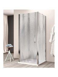 Douchecabine Lacus Giglio Fox Eéndelig 80 cm Chinchilla Glas Aluminium Profiel (2 zijwanden)