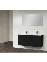 Badkamermeubel New Future 120 cm (4 lades, 2 uitsparingen) Zwart