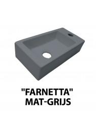 Fontein Best Design Farnetta 37x18x9cm Kraangat Rechts Mat Grijs