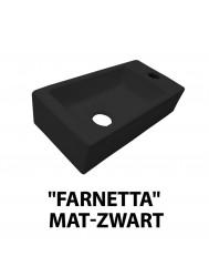 Fontein Best Design Farnetta 37x18x9cm Kraangat Rechts Mat Zwart